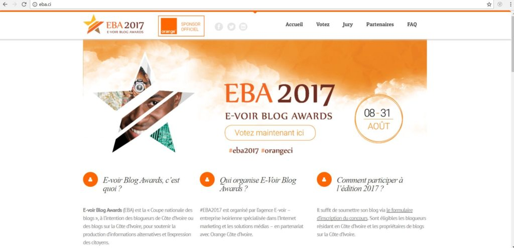 e-voir blog awards